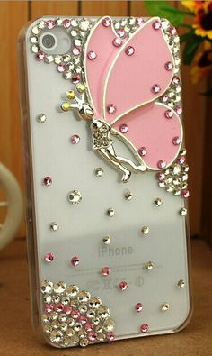Bling butterfly Iphone Case