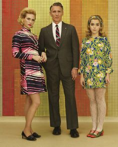"Still of January Jones, Christopher Stanley and Kiernan Shipka in ""Mad Men"" Season 7 Photos"