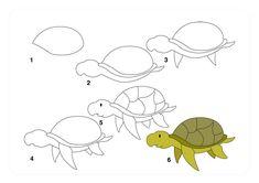 su_kaplumbağası_nasıl_çizilir