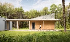 GO Logic designed the Cousins River Residence, a passive solar home in southern Maine.
