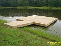 Nothing too fancy, just a small wood floating dock for fishin or chillin -