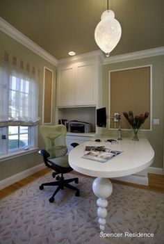 Home Office Built-in Desk Design, Pictures, Remodel, Decor and Ideas - page 59 Home Office Layouts, Home Office Setup, Home Office Space, Home Office Design, Office Ideas, Office Spaces, Work Spaces, Office Floor, Future Office
