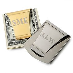 Gift+Groomsman+Personalized+Smart+Card+Slot+Money+Clip+(More+colors)+–+USD+$+5.99