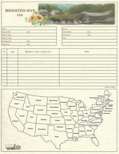 by Scrapbook Your Family Tree Collection : Family – Migration Chart Part of the 2017 Family Collection – Design: Sunflowers x – Single chart Printed on an… Genealogy Forms, Genealogy Sites, Genealogy Chart, Family Genealogy, Genealogy Humor, Family Tree Book, Family Tree Chart, Family History Book, Family Trees