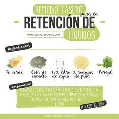 remedio casero retención de líquidos