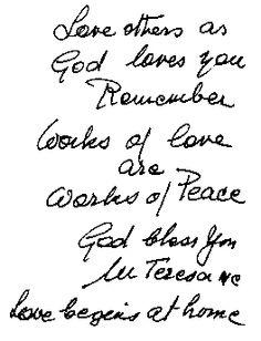 Prayer of Mother Teresa