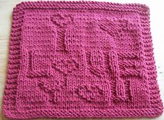 DigKnitty Designs: Another I Love You Knit Dishcloth Pattern