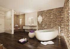 Stilvoll eingerichtetes Bad, um sich optimal zu erholen, in Hergiswil NW.