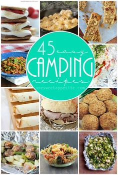 45 camping recipes. All sound amazing and simple. camping recipes, recipes for camping #camping #recipe