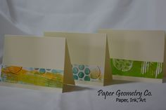 Paper Geometry Co. Find us on Facebook and Instagram. Note cards from my hand painted papers.