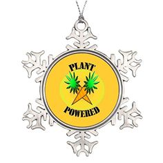 YourGift Plant Powered Veg Ideas For Decorating Christmas Trees Santa Christmas Snowflake Ornaments * See this great product.