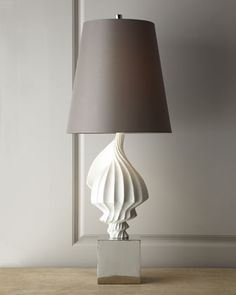 Jonathan Adler White Shell Lamp - Horchow Should sit on the kitchen island closer to the family room for interest/ambiance. Coral Lamp, Shell Lamp, Beach House Decor, Home Decor, Beach Condo, Shabby, Relax, Jonathan Adler, Home Lighting
