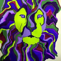 Lion ~ gouache ~ April 2015 https://www.facebook.com/stephaniecwilsonpaintings