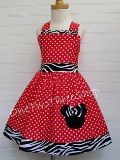 Custom Boutique Clothing Minnie Mouse Halter Dress by amacim, $35.00