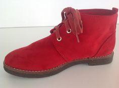 #zapato #tacón #plano #rojo #red #chic #chicas #comodo #cordones  http://calzadostacon.es/coleccion?botin_plano/9899-5_r
