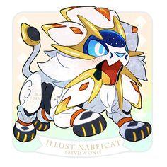 Nabei Cat Solgaleo Pokemon, Pokemon Sketch, Pokemon Pokedex, Pokemon Fan Art, Pikachu, Chibi, Cute Pokemon Pictures, Cute Pictures, Cute Pokemon Wallpaper