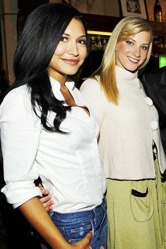 Find images and videos about glee, naya rivera and heather morris on We Heart It - the app to get lost in what you love. Heather Elizabeth Morris, Heather Morris, Glee Santana And Brittany, Naya Rivera Glee, We Heart It, Glee Cast, Dianna Agron, Sarah Michelle Gellar, Celebrity Moms