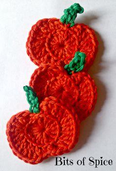 Halloween Pumpkin Crochet Appliques , $2.50