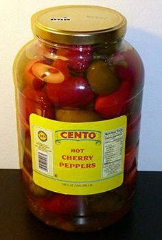 Cento Premium Whole Hot Cherry Peppers, LARGE 1 Gallon >>> Details can be found by clicking at the image at Quick dinner ideas board