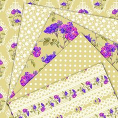 SALE Floral digital paper Magic Garden 2 by HajDesignPapers
