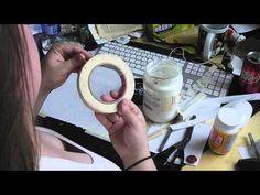 DIY washi tape (made using masking tape & gel medium) by Moira