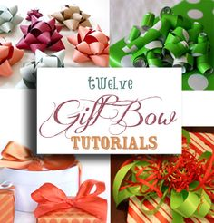 12 Fabulous Gift Bow Tutorials - Just in time for Christmas!  | onelittleproject.com