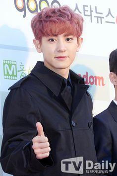 Chanyeol - 160217 5th Gaon Chart K-POP Awards, red carpet Credit: TV Daily. (제5회 가온차트 케이팝 어워드)