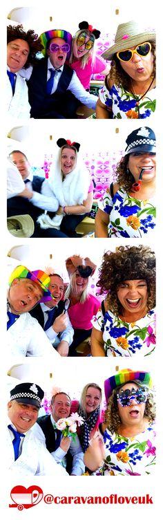 Wedding photobooth fun in the Caravan of Love vintage photobooth. Hochzeit photobooth Spaß in der Vi Caravan, Wedding Hire, Photo Booth Backdrop, Unique Photo, Wedding Inspiration, Wedding Ideas, Backdrops, Vintage, Fun
