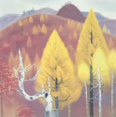東山魁夷 自然と形象 秋の山 1941年