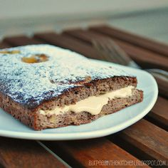 Protein chocolate-banana cake