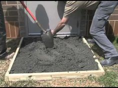 Find out how to construct a slab for your application with this video. Sakrete offers a number of concrete mixes ideal for constructing concrete slabs. Diy Concrete Slab, Pouring Concrete Slab, Concrete Sheds, Concrete Bags, Concrete Pavers, Concrete Projects, Concrete Footings, Concrete Blocks, Outdoor Projects