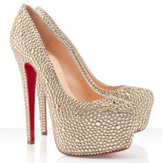 cheap Christian Louboutin Daffodile 160mm Strass Pumps Gold sale - Louboutin Bridal