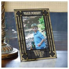 Wake Forest University Picture Frame Vertical Art Glass Frame