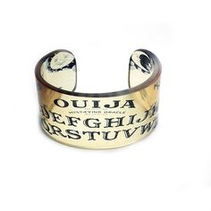 Cuff Ouija Resin Graphic Cuff Resin Bangle Resin by BuyMyCrap. $40.00, via Etsy.
