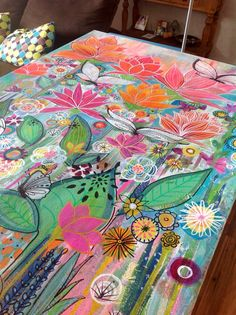 art Painting Robin Mead Robin Mead Giovanni carlinogiovanni PAINT Still working on this large acrylicpainting art butterfly butterflies flowers garden butterflygarden rainbows butterflyart Giovanni nbsp hellip Butterfly Art, Flower Art, Posca Art, Creation Art, Whimsical Art, Painting Inspiration, Amazing Art, Watercolor Art, Art Drawings