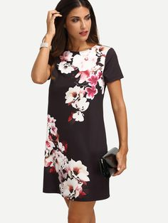 Shop Multicolor Floral Short Sleeve Dress online. SheIn offers Multicolor Floral Short Sleeve Dress & more to fit your fashionable needs.