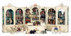 Puppen & Spielzeug Museum: 1 Wooden Miniature Toy Shop Filled with Antique Toys and Dolls