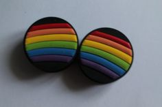 Rainbow plugs, lovely!