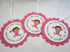 Dora the Explorer or Diego Party Favor Tags by boutiquesheek, $7.25