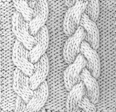 If you knit a simple braided rope, it looks like three … - Knitting Techniques Cable Knitting Patterns, Knitting Stiches, Loom Knitting, Knit Patterns, Crochet Stitches, Stitch Patterns, Vogue Knitting, Knitting Machine, Braid Patterns