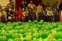 Gladeville Baptist Church indoor Easter Egg Hunt (balloons)