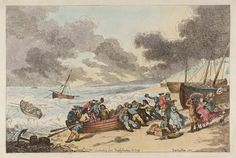 Artwork page for 'Embarking from Brighthelmstone to Diepp', Thomas Rowlandson, 1787 Fine Art Drawing, Painting & Drawing, Art Drawings, Brighton And Hove, Caricature, 18th Century, Modern Art, Etchings, Artwork