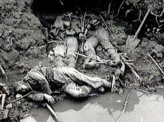 """Problems in Trenches -  The stench of the dead bodies, human waste, and vermin was unbearable.  Soldiers described it as """"hell""""."""