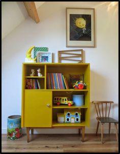 petit meuble jaune moutarde deco