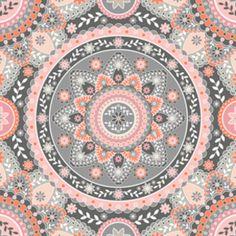 pink and gray mandala