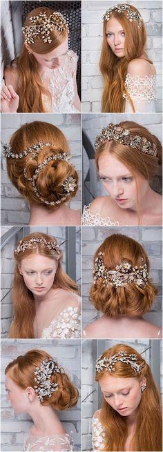 Featured Wedding Hair Accessories: Maria Elena Headpieces & Accessories;