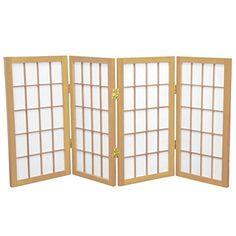 Oriental Furniture 2 ft. Tall Desktop Window Pane Shoji S...
