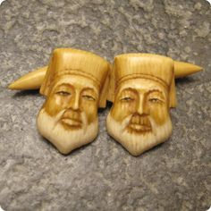 Vintage Asian Style Cufflinks Simulated Ivory