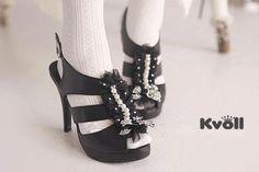 Designer-Damen-Schuhe-High-Heels-Sandaletten-Peeptoe-Schwarz-Perlen-UVP-29-90