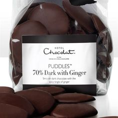 Dark Ginger Chocolate, Dark with Ginger Puddles from Hotel Chocolat